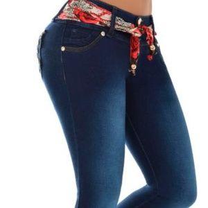 Denim - Colombian Skinny blue Jeans handmade- Indigo